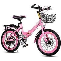 Xiaoping Pieghevole da Bicicletta per Bambini Mountain Bike velocità da 20 Pollici 6-8-10 Anni Vecchio Boy Girl Bicycle (Color : Pink)