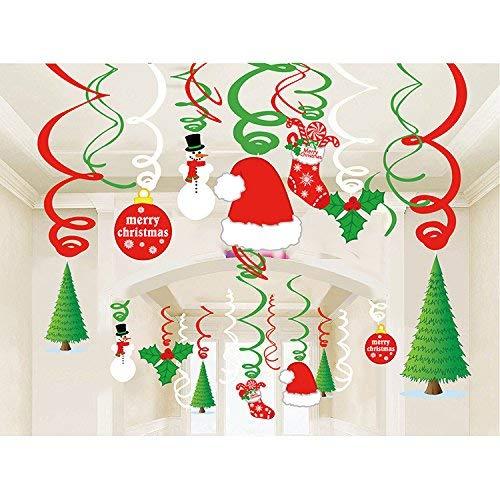 Sayala 30Pcs Remolino del Espiral de la Navidad ,Navidad Invierno Decoraciones de Fiesta,