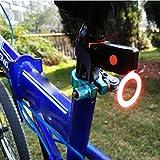 Fahrrad Rücklichter, Gusspower USB Wiederaufladbare Kreative Kühle Fahrrad TailLight, Wasserdichte Nacht Radfahren Sicherheit Ätherisches Led Rote Warnlichter Fahrrad Sitz Zurück Lampe (Runden)
