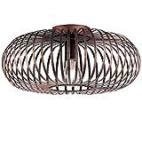 Robuste Decken Lampe Gästezimmer Käfig Gestell Strahler rund kupfer-färbig Trio Leuchten 606900162