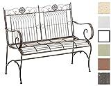 CLP Metall Gartenbank PURUSHA, 2-Sitzer, Landhaus-Stil, Eisen lackiert, Design nostalgisch Bronze