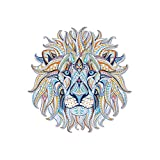 Nysunshine Lovely Lion Motif Iron on, Transfert Applique Iron on Patch thermocollant Flex pour Textile