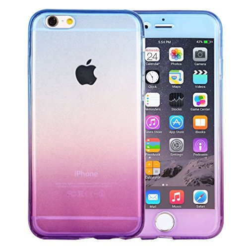 TONGZHENGTAI Entwickelt for das iPhone 6 / 6s-Gehäuse, doppelseitige TPU-Schutzhülle mit Farbverlauf und Stoßfestigkeit Einfache Art zurück Shell (Artikelnummer : Ip6g0778lp) -