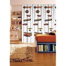 Disney Cars - 1 cortina 140x290 cm - dormitorio de los niños - Blanco