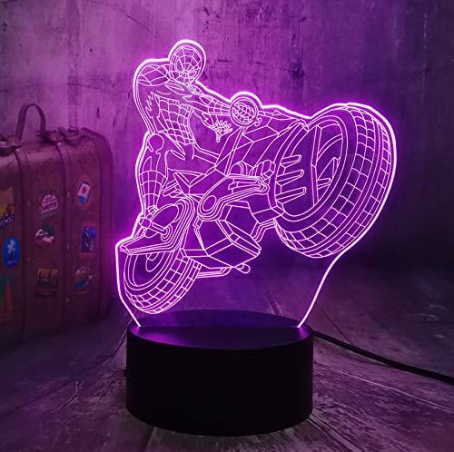Guo Luci Notturne 3D - Luci Notturne Moto Fresche - Locomotive Accelerate - Lampade Da Tavolo 3D - Giocattoli Per Bambini - Più Colori Per Illuminare La Tua Bellezza