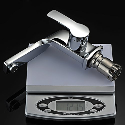 Homelody – Einhebel-Waschbeckenarmatur, ohne Ablaufgarnitur, Curved-Design, Chrom - 7