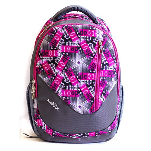 Safex Runner 30 Liters Casual School / College Backpack (Pink & Grey)  available at amazon for Rs.1325