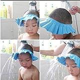 #1: Safe Shampoo Shower Bathing Protect Soft Cap Hat for Baby Children Kids button multi color