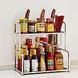 ConServazione della cucina Forniture Da Cucina In Acciaio Inox Rack Di Stoccaggio, Rack A Lama, Ripiani Di Tagliere, 2 Strati ( Colore : B , dimensioni : 30 centimetri )