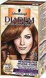 Diadem Seiden-Color-Creme 743 Goldenes Karamellbraun Silky Golds Stufe 3, 3er Pack (3 x 1)