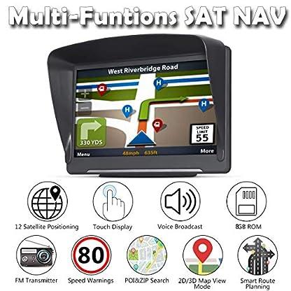 GPS-Navi-Navigation-fr-Auto-LKW-PKW-Touchscreen-7-Zoll-8G-256M-Sprachfhrung-Blitzerwarnung-mit-POI-Lebenslang-Kostenloses-Kartenupdate-Navigationsgert-Fahrspurassistent-EU-UK-61-Karten-2019