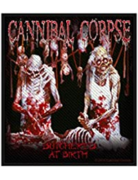 Cannibal Corpse parche–Butch ered at Birth–Cannibal Corpse Patch–tejida & licencia oficial..