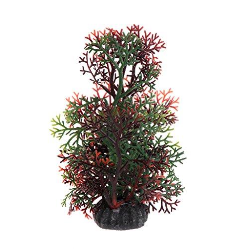 JENOR Aquarium-Pflanze, künstliches Korallenwassergras