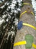 3 Stück Baum - Klettergriff e mit Befestigungsgurt - macht jeden Baum zur Kletterwand