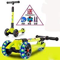 YIWANGO Scooter Di Lusso Per Scooter Per Bambini Con 3 Rotelle Di Illuminazione A LED Altezza Regolabile Per Scooter Da 3 A 12 Anni Ciclismo Biciclette