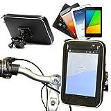 Wasserfeste Fahrrad / Motorrad Halterung für 7 Inch Tablets wie das Huawei MediaPad X2 Tablet / Asus MeMO Pad 7 ME572C-1A018A / LG G Pad F 7.0 / Alcatel OneTouch Pixi 3