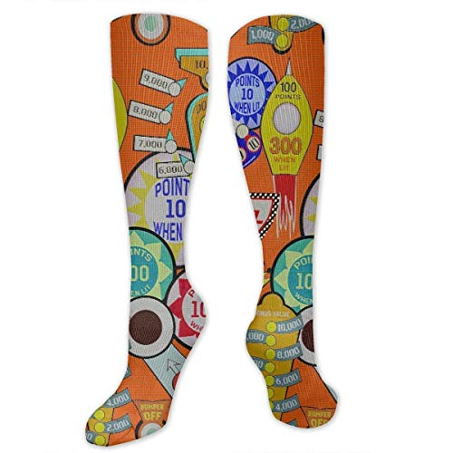 Knee High Sports Athletic Socks Polyester Tube Long Stockings ()