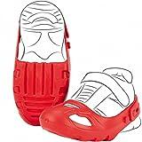 #1118 Schuhschoner mit Klettverschluß Rot für Schuhgröße 21-27 • Schuh Schoner Schuhschützer Größe Rutscher Bobby Car