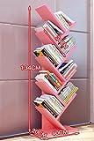 Königlich HWF Bücher Bücherregal Boden Bücherregal Eck Bücherregal Modern Einfach Kreativ (Farbe : F)