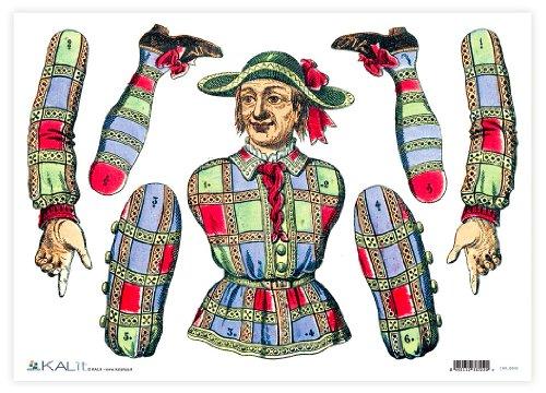 Accademia del Craft sales 32 x 45 cm, Brille Meneghino Grußkarten, Seidenpapier, mehrfarbig (Seidenpapier Mulberry)