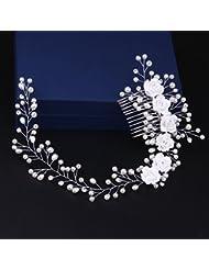 &zhou Bijoux de cheveux nuptiale Coiffure à la main Accessoires Robe de mariée 33 * 5cm