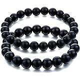 Black Tourmaline Crystal Bracelet 2 Bracelet / Natural Black Tourmaline 8Mm Beads Size Natural Black Tourmaline Bracelet 2 Pieces