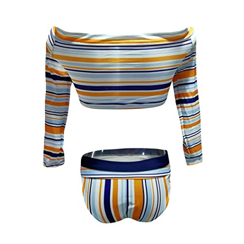 Costumi Donna, Dorame Beachwear Set Sport Push-Up Reggiseno Imbottito Costume Da Bagno Backless Bikini Multicolor