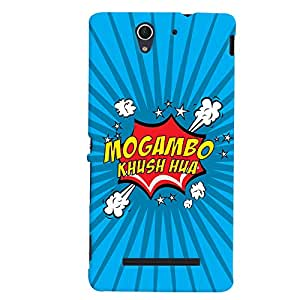 ColourCrust Sony Xperia C3 / Dual Sim Mobile Phone Back Cover With Mogambo Khush Hua Quirky - Durable Matte Finish Hard Plastic Slim Case