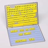 Betzold 42290 - Lese-Magnetbox Sprachförderung 213 Magnet-Buchstaben 32 Arbeitsblätter - Lesen Lernen Kinder Grundschule