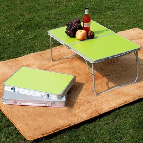 Popamazing Portable Folding Picnic Table/Desk Bed Tray/Stand for Laptop Notebook Computer (Green Folding Table)