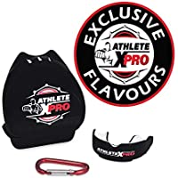 ATHLETE X PRO - Flavoured Protection Gum Shield - INCLUDES Carabiner Clip - Mouldable to Fit Adults & Kids - Ideal Mouth Guard for Rugby Boxing MMA UFC Hockey Gym Football Karate & All Contact Sports