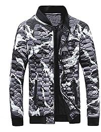 Qmber Herren jacken Kapuzenjacke Sweatjacke Parka Pullover Sweatshirt Hoodies Outdoor Coat Strickjacke Täglichen Mäntel Outwear Herbst Winter Tops, Camouflage Bluse Verdickung