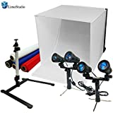 "LimoStudio 24"" Table Top Photography Studio Light Tent Kit In A Box - Photo Tent, 2x Light Set, Mini Camera Stand, 2x GU10 Light Bulbs, AGG903"