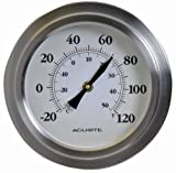 Best Acurite Outdoor Thermometers - AcuRite 02320 8-Inch Brushed Nickel Porthole Thermometer Review