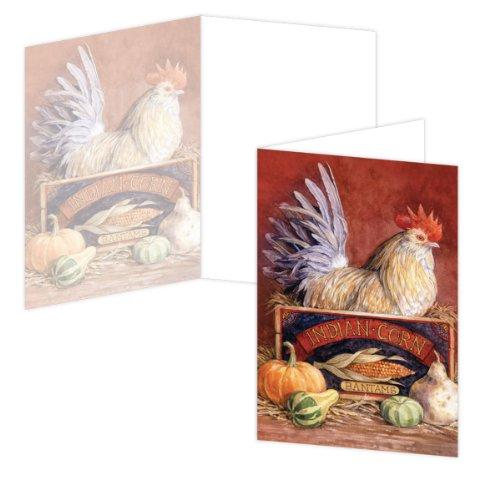 ecoeverywhere Rooster Box Card Set, 12Karten und Umschläge, 10,2x 15,2cm, (Bunte bc57850) Rooster-box