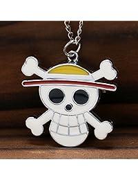 ShopyStore Christmas Gifts Fashion One Piece Anime Quartz Pocket Watch Clock Skull Shape Straw Hat N