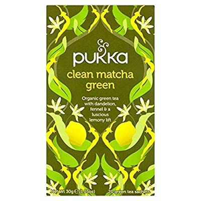 Pukka Thé Vert Bio Matcha Clean 20 Sachets 40 g - Lot de 2