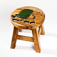 Robuster Kinderhocker/Kinderstuhl massiv aus Holz mit Tiermotiv Schildkröte, 25 cm Sitzhöhe preisvergleich bei kinderzimmerdekopreise.eu