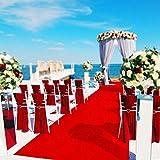 Jeteven ins Alfombra roja Rollo moqueta para Decoracion de Boda Alfombra de Pasillo Alfombra para Eventos alfombras Exteriores (5_x_1_cm)