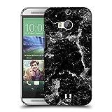 Head Case Designs Schwarz Marmor Drucke Ruckseite Hülle für HTC One M8 / M8 Dual SIM