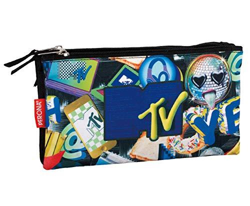 MTV- Estuche Portatodo,, 23 centímetros (Montichelvo_56075)