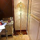 $lampada da terra Lampada da terra in cristallo Camera da letto Soggiorno Lampada da terra moderna Studio E27 Controllo remoto a vite (colore : Foot switch)