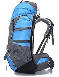 Gran Capacidad Exterior De La Mochila De Viaje De Montañismo Bolsas 26.37 * 13.77 * 7.87 En,Blue