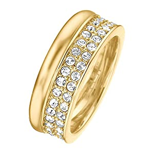 JETTE Magic Passion Damen-Ring Jette Silber Metall 70 Kristall gold, 51 (16.2)