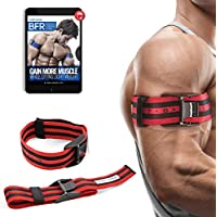 """BFR BANDS Occlusion Training Bands PRO X Model, 2 Pack, Blood Flow Restriction Bands with Research-Backed 2"""" Width - Pull To Tighten + Quick-Release + Pinch Free Buckle, Multiple Patents Pending"""