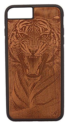 Laser Gravur Cherry Holz Handy Fall kompatibel mit iPhone 6Plus, 6S Plus, 7Plus, und 8Plus-von Foto von Bengal Tiger Lsu Laser
