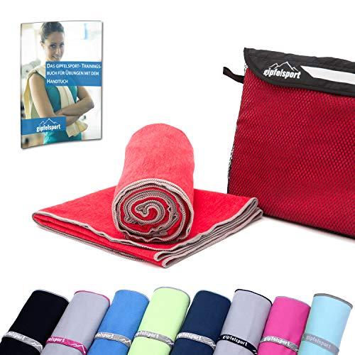 Mikrofaser Handtuch Set - Microfaser Handtücher für Sauna, Fitness, Sport I Strandtuch, Sporthandtuch I 1x XL(180x80cm) I Rot