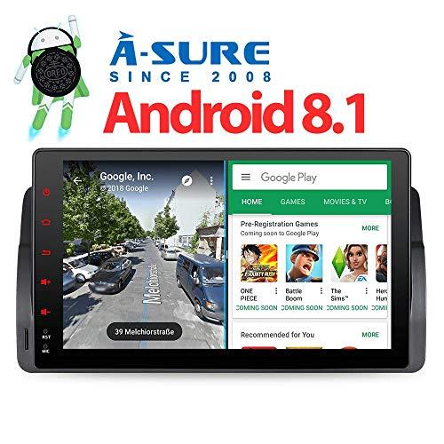 "A-SURE 9\"" 2G RAM Android 8.1/8.0 Autoradio GPS Auto Navigation Mirrorlink WiFi WLAN BT 3G OBD DAB DVB USB SD 2 Din Navi für BMW E46 3 Serie 3er 318 320 325 Rover 75 KUE46FJ 2-Jahre-Garantie"