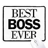 Best Boss Ever quote antiscivolo Mousepad gioco ufficio Nero Titched bordi Gift - Best Reviews Guide