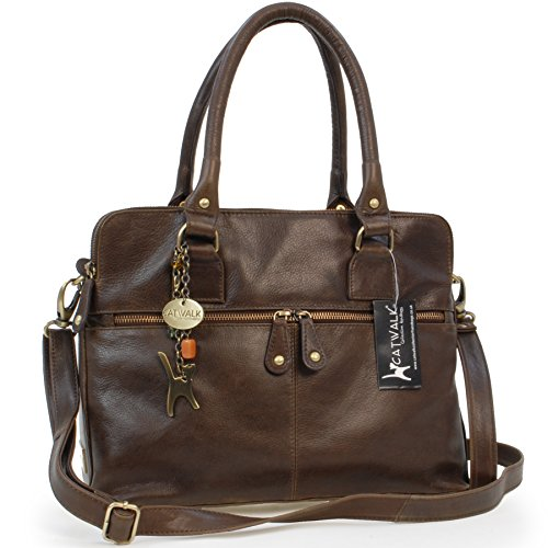 - 51iq0aoNKXL - Catwalk Collection Large Shoulder Tote – Victoria – Vintage Leather